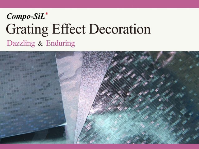 Compo-SiL® Grating Effect Decoration