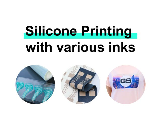 Silicone Printing with various inks