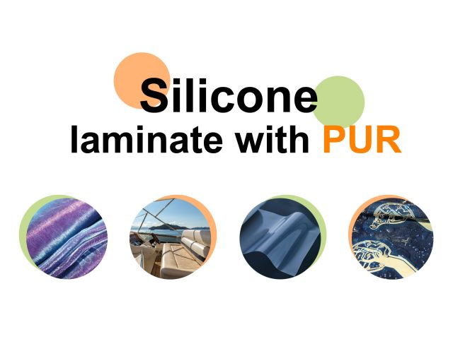 PUR laminate/adhesive for silicone