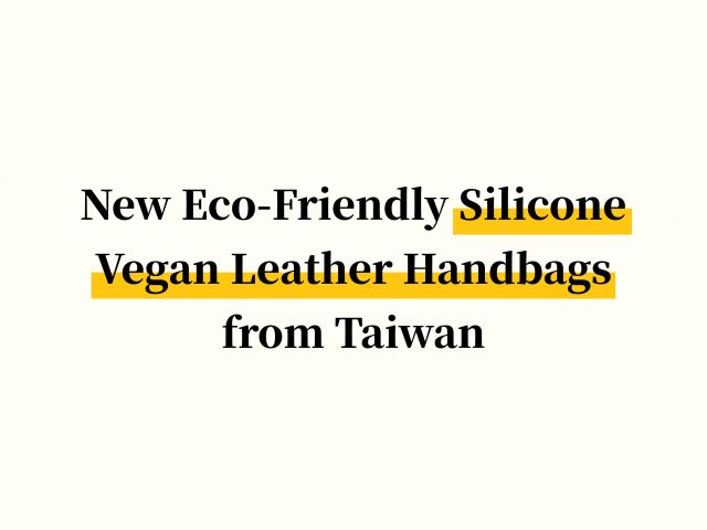 New Eco-Friendly Silicone Vegan Leather Handbags from Taiwan
